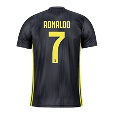 Adidas Youth Juventus 'RONALDO 7' Third Jersey '18-'19 (Carbon/Shock Yellow)