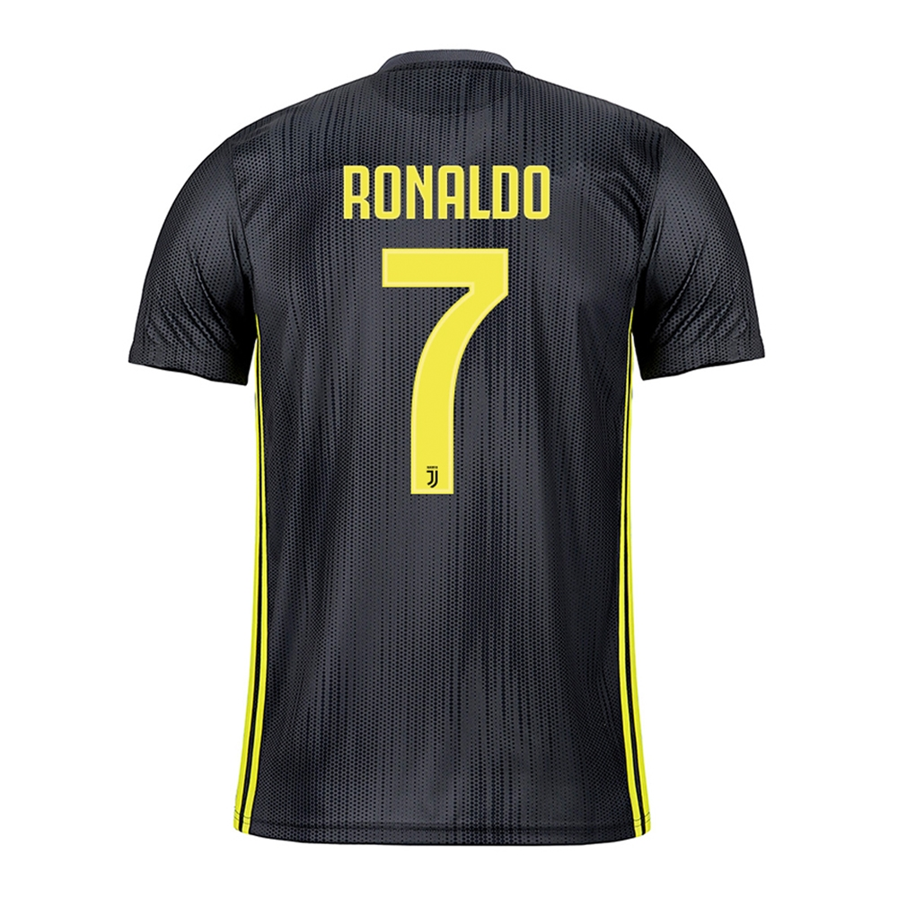 brand new 4c320 1b8eb Adidas Youth Juventus 'RONALDO 7' Third Jersey '18-'19 (Carbon/Shock Yellow)