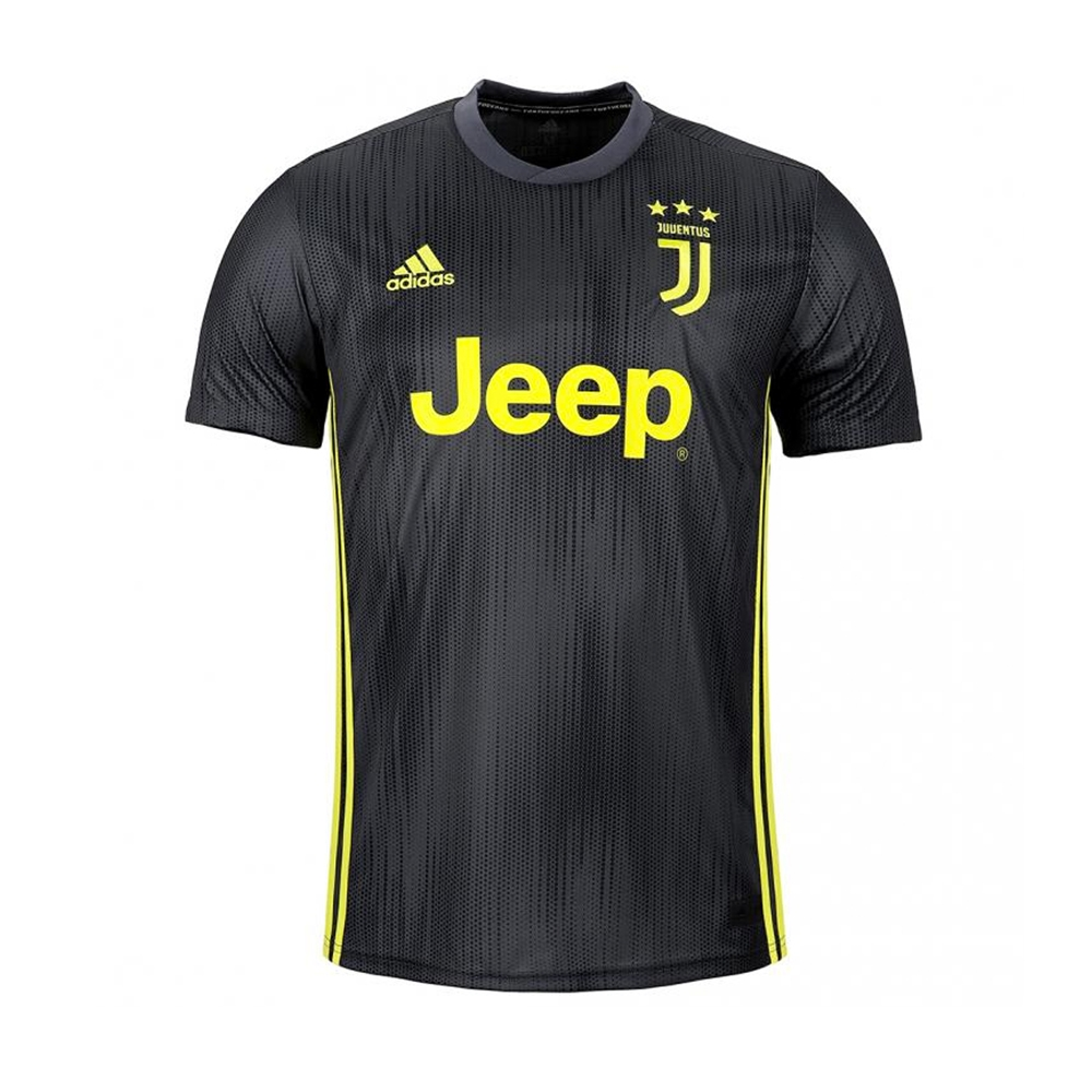 brand new 6590e 2c7a0 Adidas Youth Juventus 'RONALDO 7' Third Jersey '18-'19 (Carbon/Shock Yellow)
