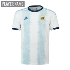 Adidas Youth Argentina Home Jersey 2019 (White/Light Aqua)