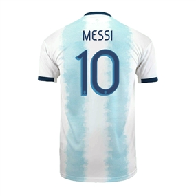 Adidas Youth Argentina 'MESSI 10' Home Jersey 2019 (White/Light Aqua)