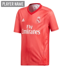 Adidas Youth Real Madrid Third Jersey '18-'19 (Real Coral/Vivid Red)