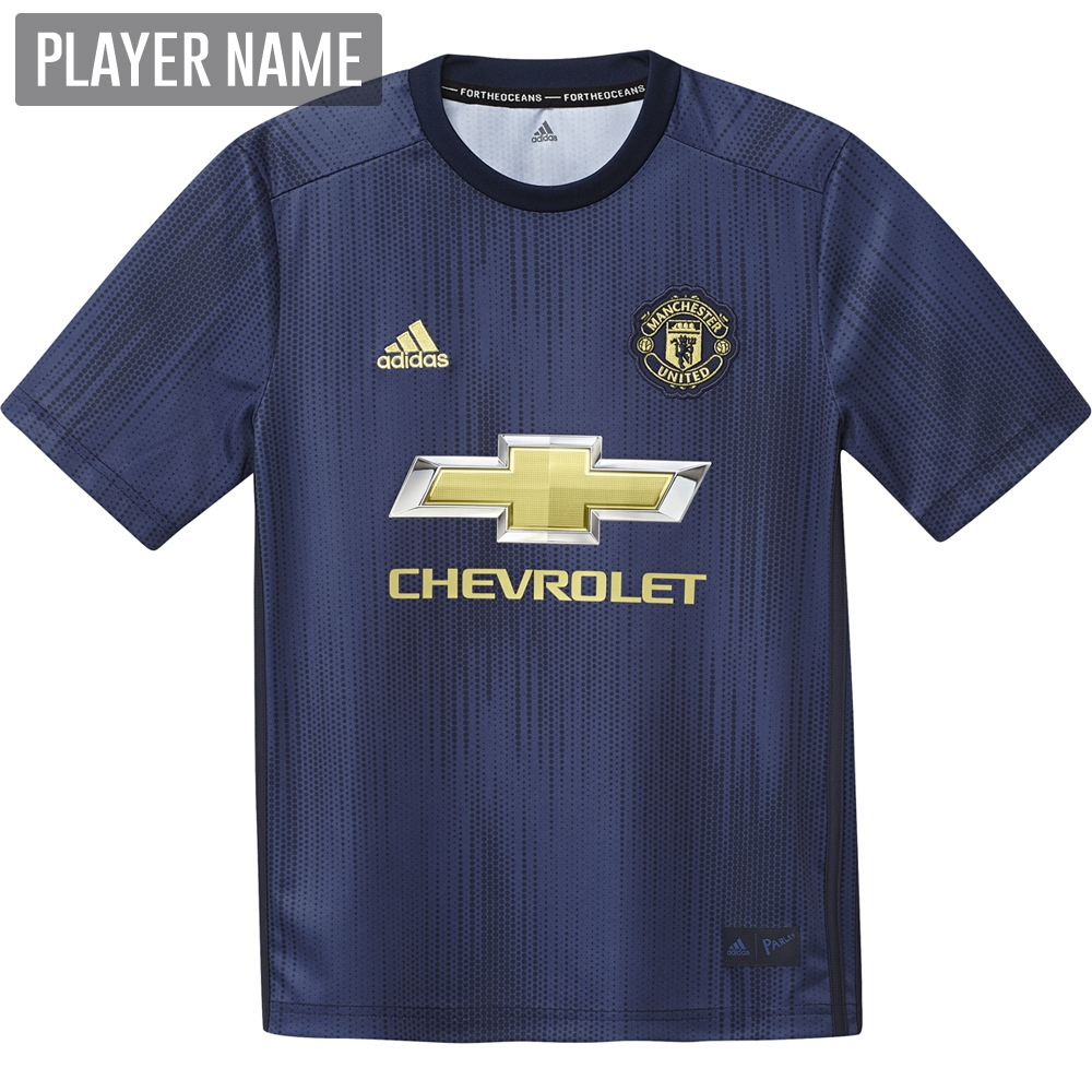 sale retailer 19f69 998d6 Adidas Youth Manchester United Third Jersey '18-'19 (Collegiate Navy/Night  Navy/Matte Gold)