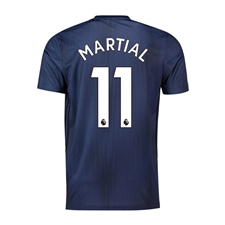 Adidas Youth Manchester 'MARTIAL 11' United Third Jersey '18-'19 (Collegiate Navy/Night Navy/Matte Gold)