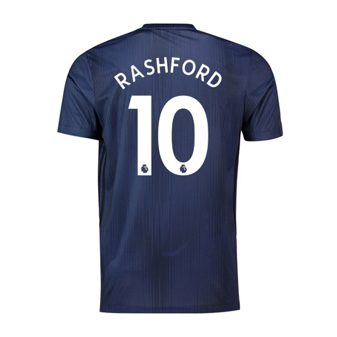 outlet store dee1b 2bcf1 Adidas Youth Manchester 'RASHFORD 10' United Third Jersey '18-'19  (Collegiate Navy/Night Navy/Matte Gold)