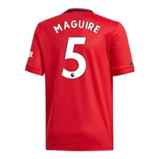 Adidas Youth Manchester United 'MAGUIRE 5' Home Jersey '19-'20 (Real Red)