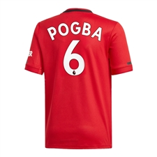 Adidas Youth Manchester United 'POGBA 6' Home Jersey '19-'20 (Real Red)