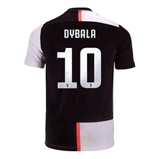 Adidas Youth Juventus 'DYBALA 10' Home Jersey '19-'20 (Black/White)