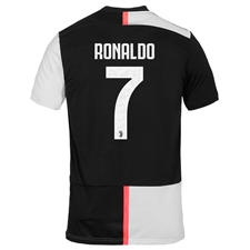 Adidas Youth Juventus 'RONALDO 7' Home Jersey '19-'20 (Black/White)
