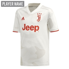 Adidas Youth Juventus Away Jersey '19-'20 (Core White/Raw White)