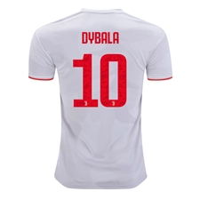 Adidas Youth Juventus 'DYBALA 10' Away Jersey '19-'20 (Core White/Raw White)
