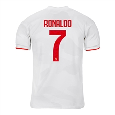 Adidas Youth Juventus 'RONALDO 7' Away Jersey '19-'20 (Core White/Raw White)