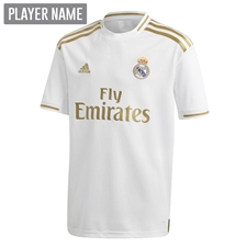 Adidas Youth Real Madrid Home Jersey '19-'20 (White)