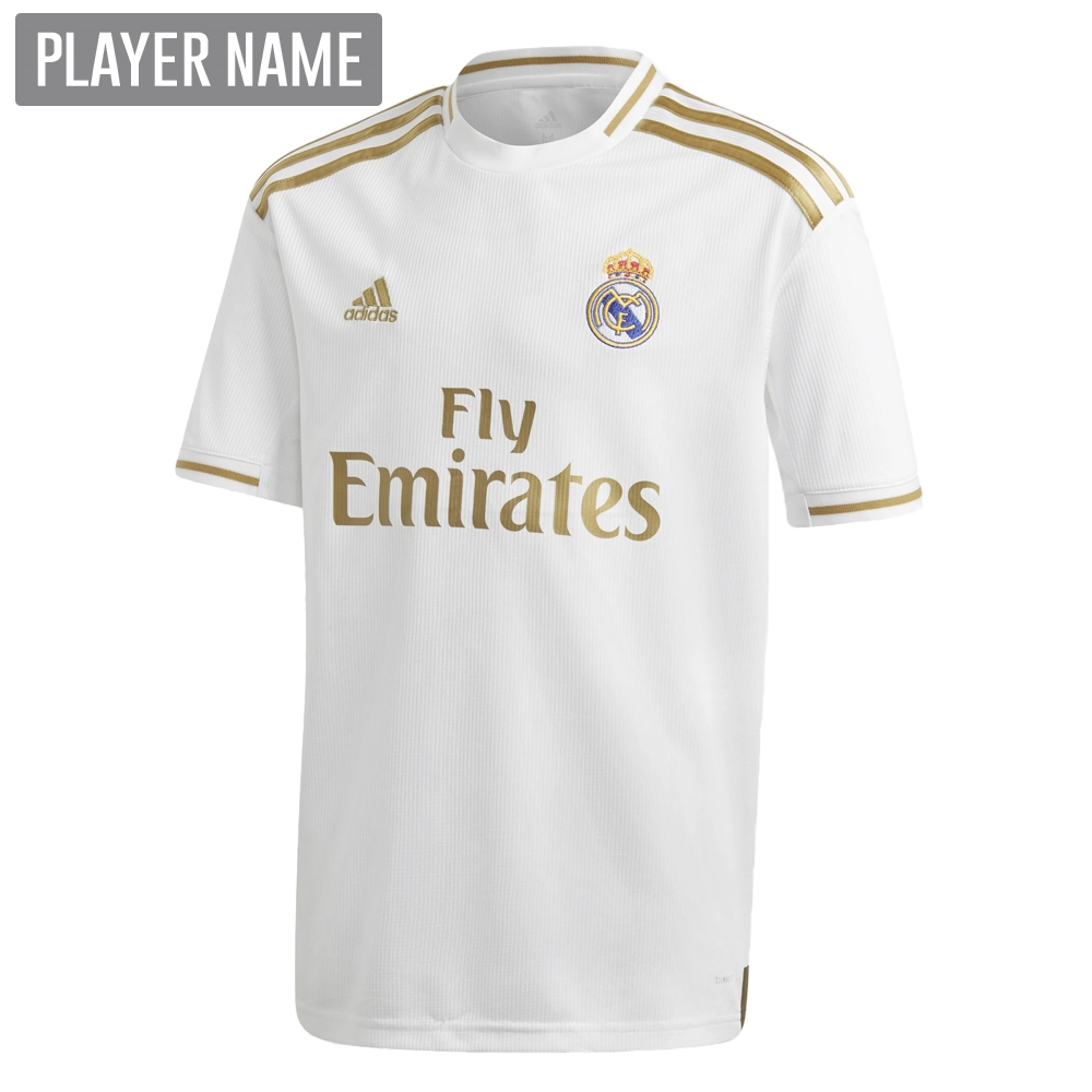 a1c4f0a4 Adidas Youth Real Madrid Home Jersey '19-'20 (White) | Real Madrid ...