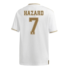 Adidas Youth Real Madrid 'HAZARD 7' Home Jersey '19-'20 (White)