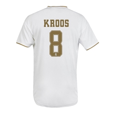 Adidas Youth Real Madrid 'KROOS 8' Home Jersey '19-'20 (White)