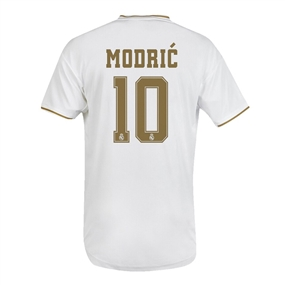 Adidas Youth Real Madrid 'MODRIC 10' Home Jersey '19-'20 (White)