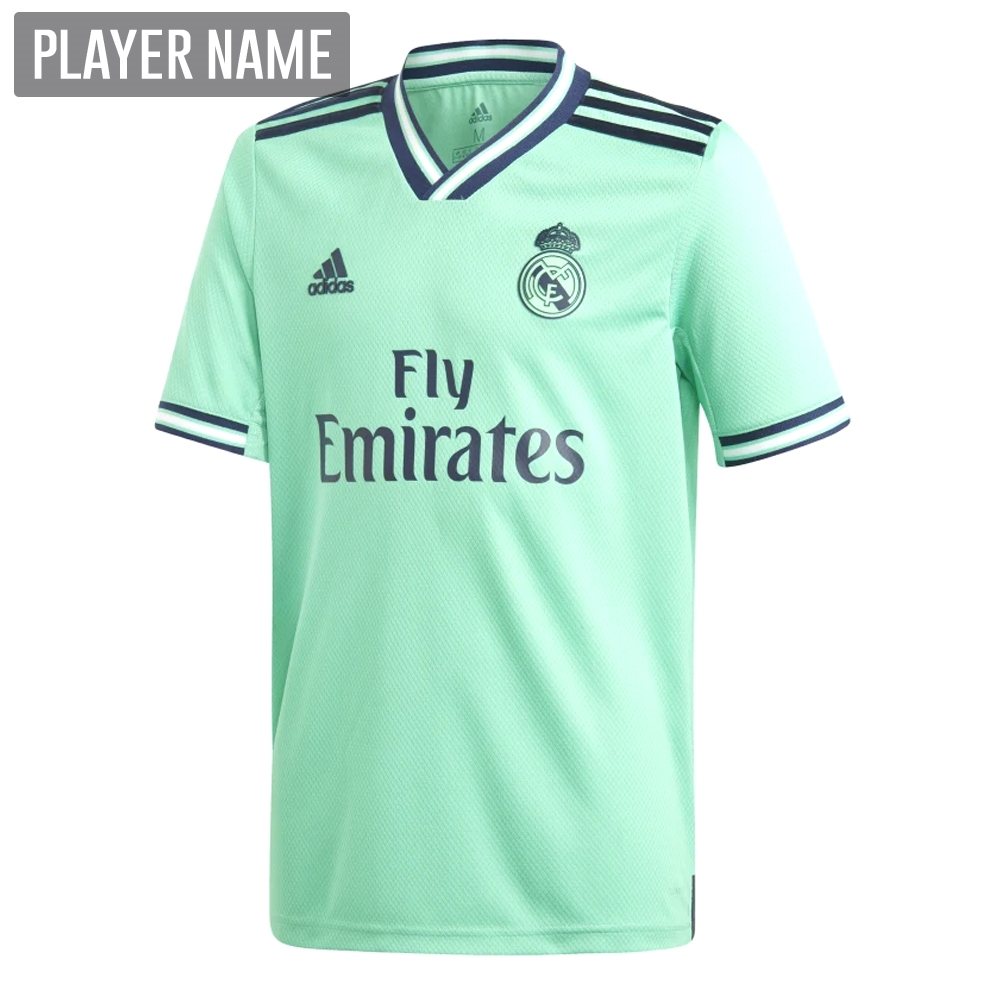 half off eea36 d3d5c Adidas Youth Real Madrid Third Jersey '19-'20 (Hi-Res Green)