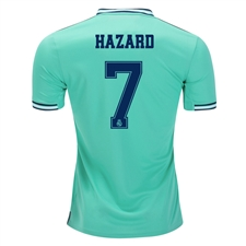 Adidas Youth Real Madrid 'HAZARD 7' Third Jersey '19-'20 (Hi-Res Green)