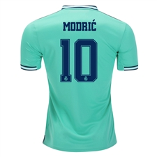 Adidas Youth Real Madrid 'MODRIC 10' Third Jersey '19-'20 (Hi-Res Green)