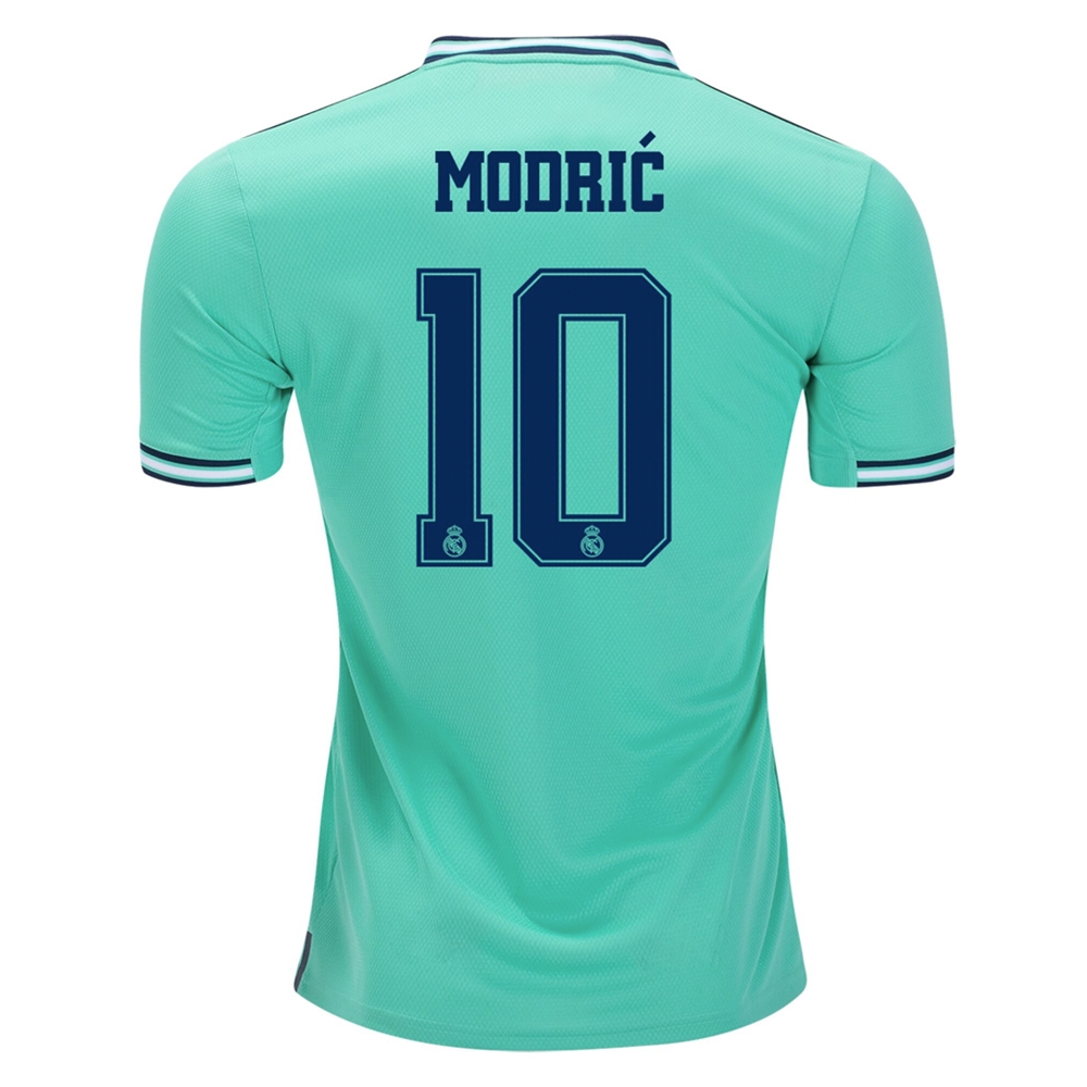 best website e783f 9c9ae Adidas Youth Real Madrid 'MODRIC 10' Third Jersey '19-'20 (Hi-Res Green)