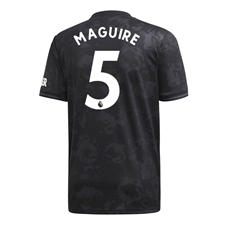 Adidas Youth Manchester United 'MAGUIRE 5' Third Jersey '19-'20 (Black)