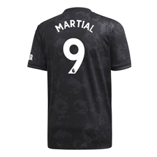 Adidas Youth Manchester United 'MARTIAL 9' Third Jersey '19-'20 (Black)