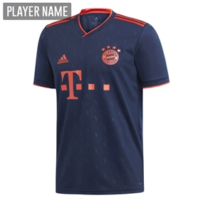 Adidas Youth Bayern Munich Third Jersey '19-'20 (Collegiate Navy/Bright Red)