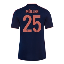 Adidas Youth Bayern Munich 'MULLER 25' Third Jersey '19-'20 (Collegiate Navy/Bright Red)