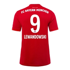 Adidas Youth Bayern Munich 'LEWANDOWSKI 9' Home Jersey '19-'20 (FCB True Red)