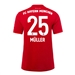 Adidas Youth Bayern Munich 'MULLER 25' Home Jersey '19-'20 (FCB True Red)