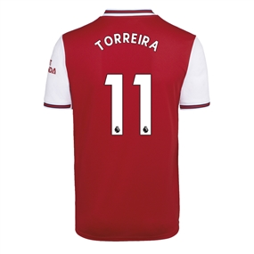 Adidas Youth Arsenal 'TORREIRA 11' Home Jersey '19-'20 (Scarlet)