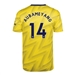Adidas Youth Arsenal 'AUBAMEYANG 14' Away Jersey '19-'20 (Equipment Yellow)