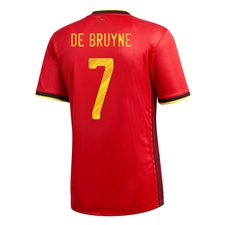 Adidas Youth Belgium 'DE BRUYNE 7' Home Jersey 2020 (Collegiate Red)
