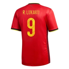 Adidas Youth Belgium 'LUKAKU 9' Home Jersey 2020 (Collegiate Red)