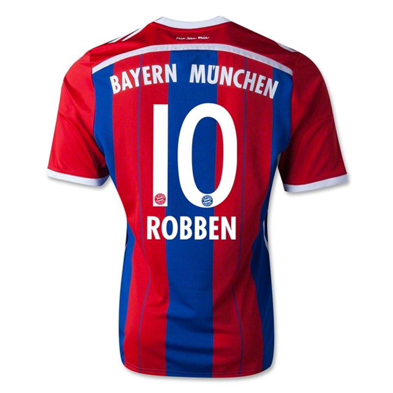 big sale be379 6d4eb Adidas Bayern Munich 'ROBBEN 10' Home Youth '14-'15 Soccer Jersey