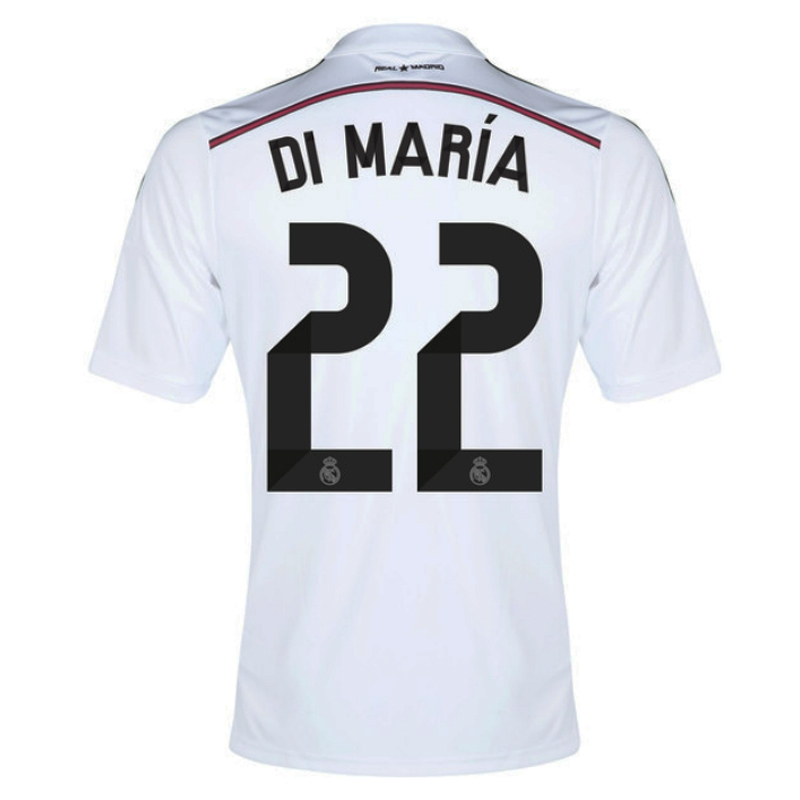 Adidas Real Madrid  DI MARIA 22  Home Youth  14- 15 Replica Soccer ... e0d034aaa