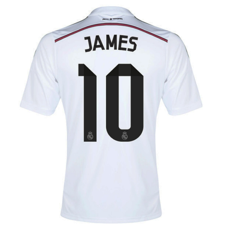 Adidas Real Madrid  JAMES 10  Home Youth  14- 15 Replica Soccer ... 877c7e4a0