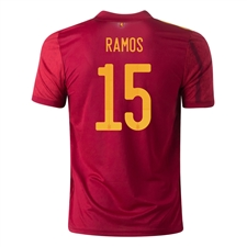 Adidas Youth Spain 'RAMOS 15' Home Jersey 2020 (Victory Red)