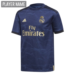 Adidas Youth Real Madrid Away Jersey '19-'20 (Night Indigo)