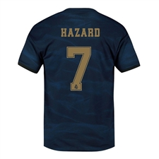 Adidas Youth Real Madrid 'HAZARD 7' Away Jersey '19-'20 (Night Indigo)