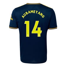 Adidas Youth Arsenal 'AUBAMEYANG 14' Third Jersey '19-'20 (Collegiate Navy)