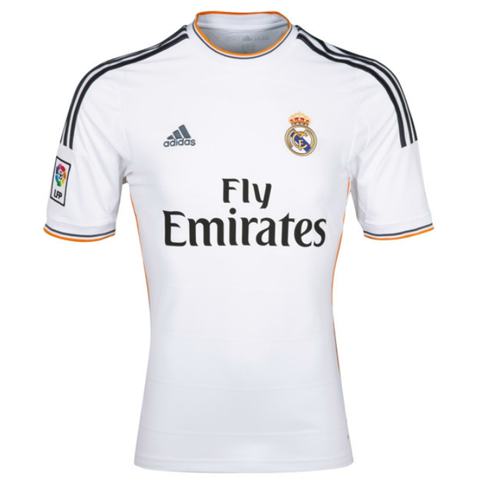 new product 12eb3 4dde9 Adidas Real Madrid Youth 'RONALDO 7' Home '13-'14 Replica Soccer Jersey  (White/Lead/Orange)