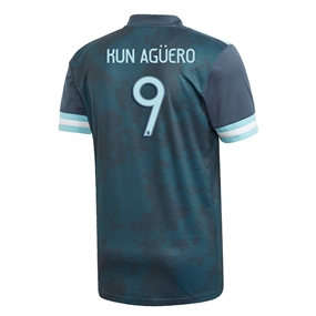 Adidas Youth Argentina 'AGUERO 9' Away Jersey 2020 (Midnight)