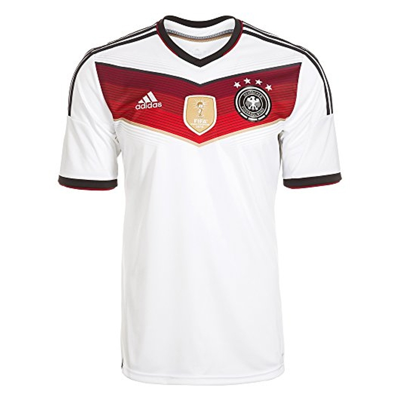 Adidas germany 4 stars home youth 2014 replica soccer for Germany mercedes benz soccer jersey