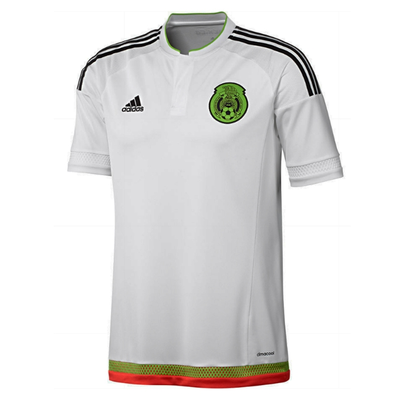 74fa2529872 $69.99 Add to Cart for Price - Adidas Mexico Away Youth 2015 Replica Soccer  Jersey (White/Black/Semi Solar Green/Hi Res Red) | Youth Mexico Soccer  Jerseys| ...