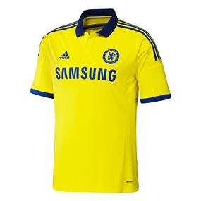 Adidas Chelsea Away Youth '14-'15 Replica Soccer Jersey (Yellow/Chelsea Blue)