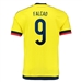 Adidas Colombia 'FALCAO 9' Youth Home 2015 Replica Soccer Jersey (Bright Yellow/Collegiate Navy)