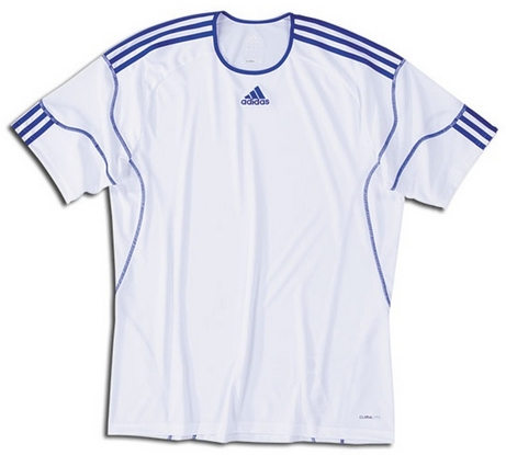 new arrival 8d19a 1452d Adidas Youth Regista Soccer Jersey (White/Cobalt)