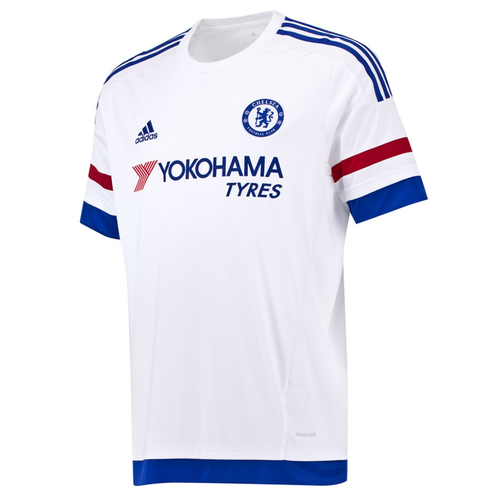 Chelsea Away Youth  15- 16 Replica Soccer Jersey (White Chelsea Blue ... a94c38097
